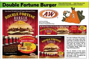 A&W Double Fortune Burger