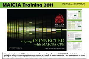 MAICSA Training 2011